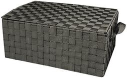 Honey-Can-Do OFC-03710 Hinged Lid Double Woven Storage Box w