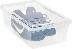 IRIS 6 Quart Modular Storage Box, 10 Pack, Clear