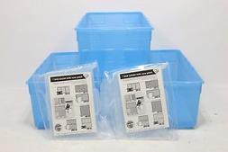 IRIS Media Storage Box, 6 Pack, Blue