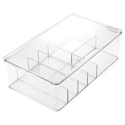 InterDesign Clarity Bathroom Storage Box Organizer for Vitam