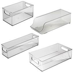 InterDesign Fridge and Freezer Storage Bins 4-piece, Clear