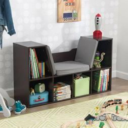 """KidKraft 14231 Bookcase with Reading Nook Toy, 46.46"""" x 15.1"""
