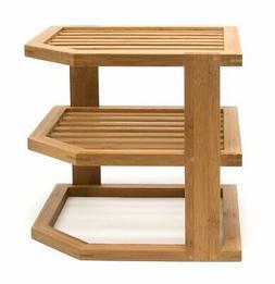 Lipper International 8883 Bamboo Wood 3-Tier Corner Kitchen