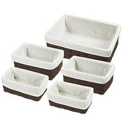 Juvale Nesting Basket - 5-Piece Utility Storage Baskets, Cho