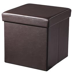 "SONGMICS 15"" x 15"" x 15"" Folding Storage Ottoman Cube Footre"