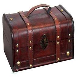 Vintiquewise Decorative Treasure Box - Wooden Trunk Chest