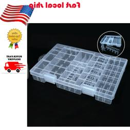 Portable Plastic Case Storage Box Holder Hinged Organiser fo