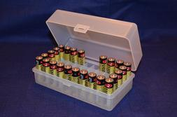 AA Battery Plastic Storage Box Bin Container HOLDS 50 BATTER