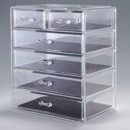 Acrylic Jewelry Makeup Cosmetic Organizer Case Display Holde
