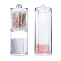 Acrylic Multifunctional Round Qtip <font><b>Container</b></f