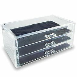 Acrylic Jewelry Cosmetic Storage Display Box 9 38 x 5 38 x 4