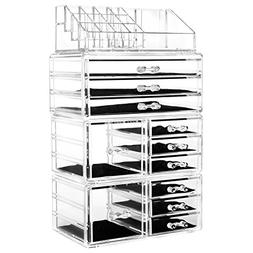 hblife Acrylic Jewelry and Cosmetic Storage Drawers Display