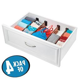 mDesign Adjustable, Expandable Drawer Organizer/Divider - Fo
