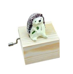 adorable wooden hedgehog music decoration