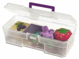 Akro-Mils 09912 CLPUR 12-Inch Plastic Art Supply Craft Stora