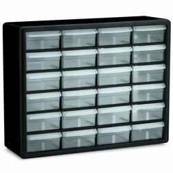 Akro-Mils 10124 24-Drawer Plastic Parts Storage Hardware and
