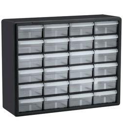Akro-Mils 10124 24 Drawer Plastic Storage Cabinet  1 ea