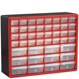 Akro-Mils 44 Drawer 10144REDBLK, Plastic Parts Storage Hardw