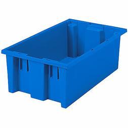 "Akro-Mils Nest & Stack Tote 35180 Blue 18"" x 11"" x 6""  6 pk"