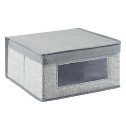 InterDesign Aldo Fabric Closet Storage Organizer Box for Clo