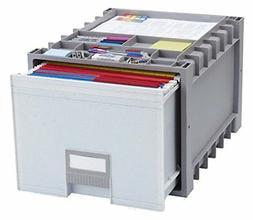"Storex Archive Storage Box, Letter Size, 18"" Drawer"