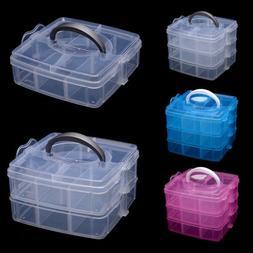 Art Organizer Craft Jewelry Box Plastic Case Container Stora