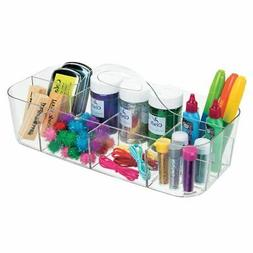 mDesign Art, Sewing, Craft Supplies Storage Caddy Tote, X-La