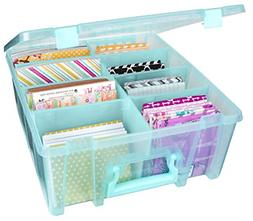 Art Supply Storage Box Durable Water Resistant Organizer Aqu