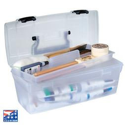 ARTBIN ESSENTIALS LIFT OUT TRAY BOX with HANDLE is CLEAR for