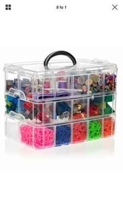Arts Crafts Bin for Hobby Toy Storage Shopkins Beads Jewelry