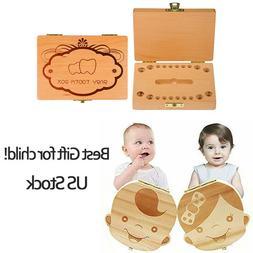 Baby Milk Teeth Storage Box Keepsake Organizer Kids First To