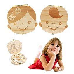 Baby Tooth Box by NASHRIO - Wooden Kids Keepsake Organizer G