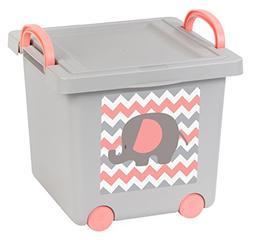 IRIS Baby Toy Storage Box, 4 Pack, Gray