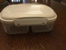 bake it food storage container two compartment