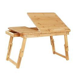 SONGMICS Multi Function Lapdesk Table Bed Tray Foldable Adju
