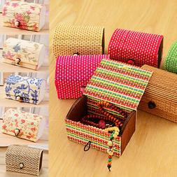 Bamboo Storage Box Home Organizer Jewelry Boxes Wooden Trink