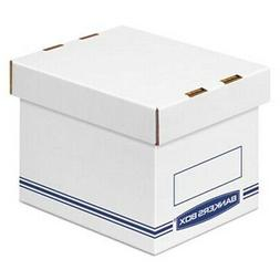Bankers Box Organizer Storage Boxes, Small, White/Blue, 12/C