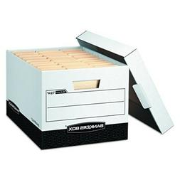 Bankers R-KIVE Max Storage Box Legal/Letter Locking Lid Whit