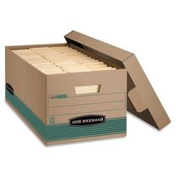 Bankers Box Recycled Stor/File Storage Box, Locking Lift-Off