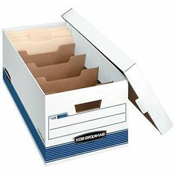 Bankers Storage File Boxes Box DIVIDERBOX Medium-Duty With D