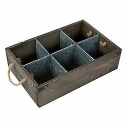Barnwood Decorative Storage Box, Organizer Caddy with Metal