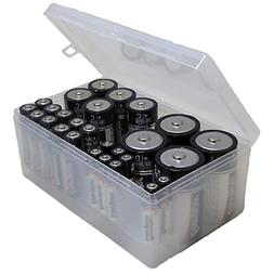 Massca Battery Storage Box Organizer. Stores AAA, AA, C and