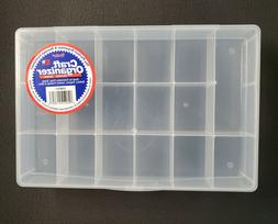 Darice Bead Craft Organizer Plastic Containers 17 Compartmen