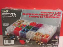 """Bead Organizer By Darice 10.5"""" X 7"""" 17 Compartments NEW"""