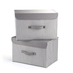 Storage Bins,Mee'life Set of Two Foldable Storage Box with L