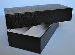 "BLACK DOUBLE ROW STORAGE BOX FOR 2X2 COIN HOLDERS 10""X4""X2"""