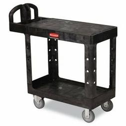 Rubbermaid Black Flat Shelf Utility Cart  Category: Utility
