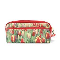 Naanle Beautiful Blooming Tulips Painting Women Makeup Cosme