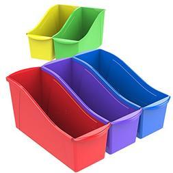 Storex Book Bins, 11-Inch, Assorted Colors, 30 Bins