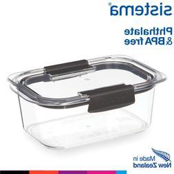 brilliance clip lid rectangular food storage container